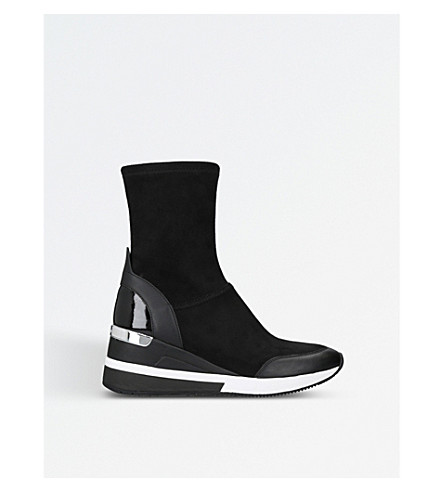 MICHAEL MICHAEL KORS Ace flatform stretch boots (Black