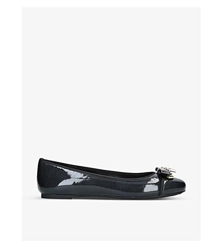 MICHAEL MICHAEL KORS Alice patent-leather ballet shoes (Black