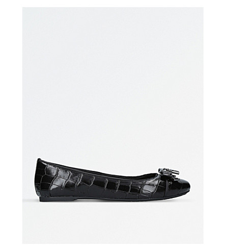 MICHAEL MICHAEL KORS Alice croc-embossed ballet shoes (Black