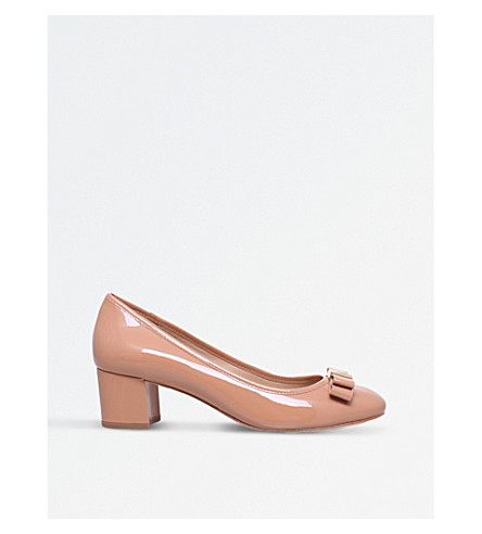 MICHAEL MICHAEL KORS Caroline patent-leather courts (Nude