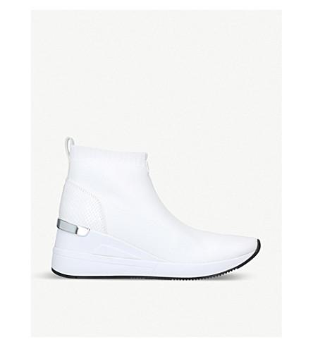 MICHAEL MICHAEL KORS Skyler pull-on woven booties (White