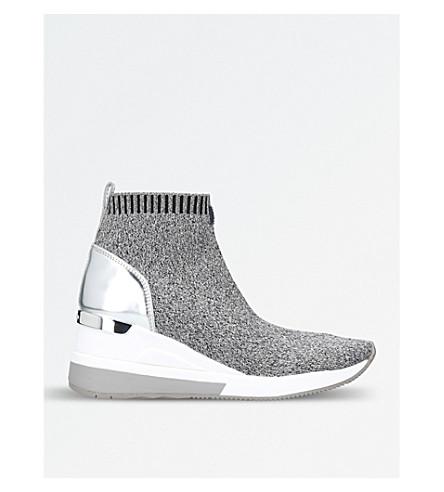MICHAEL MICHAEL KORS Skyler stretch-knit boots (Grey