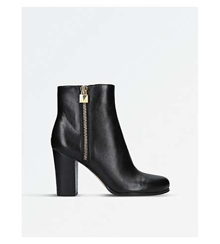 MICHAEL MICHAEL KORS Margaret zipped leather boots (Black