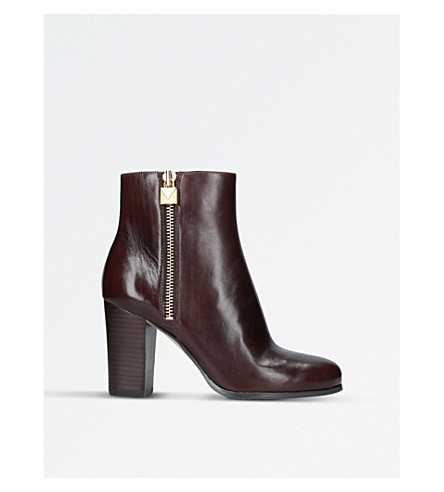 MICHAEL MICHAEL KORS Margaret zipped leather boots (Tan