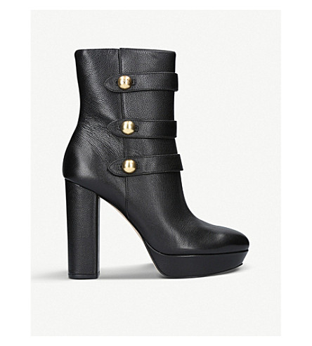 MICHAEL MICHAEL KORS Maisie leather platform ankle boots (Black