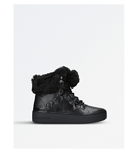 MICHAEL MICHAEL KORS Kyle hiker leather high-top trainers (Black