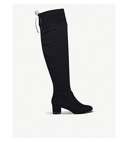 MICHAEL MICHAEL KORS Jamie croc-print knee-high leather boots (Black