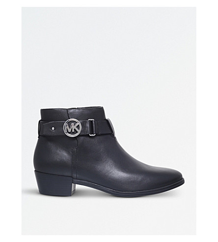 MICHAEL MICHAEL KORS Harland leather ankle boots (Black