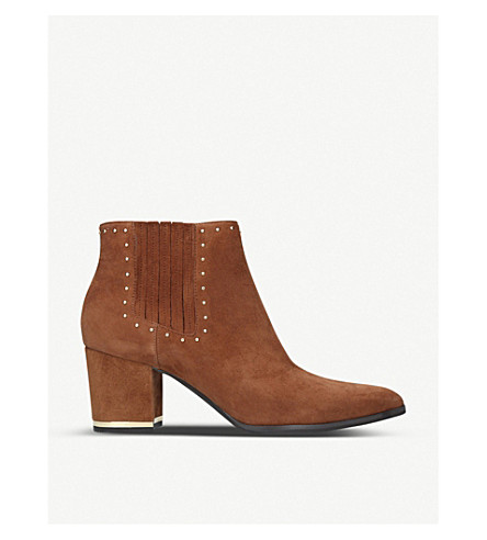 MICHAEL MICHAEL KORS Gemma studded suede ankle boots (Tan
