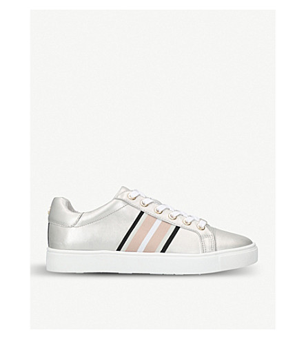 CARVELA Larson metallic leather trainers (Silver