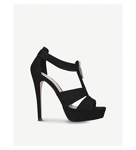CARVELA Girly strappy suedette sandals (Black