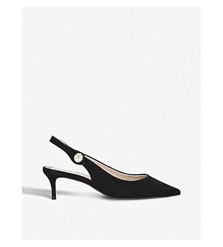 CARVELA Atol suede slingback kitten heels (Black