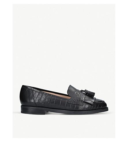 CARVELA Leona croc-embossed leather loafers (Black
