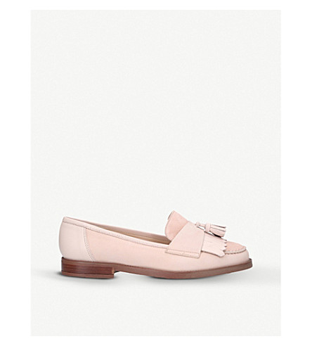 CARVELA Leona tassel leather and suede loafers (Nude