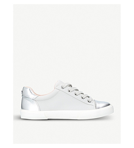 CARVELA Light metallic leather trainers (Grey