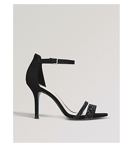NINE WEST Ammuri embellished low heel sandals (Black