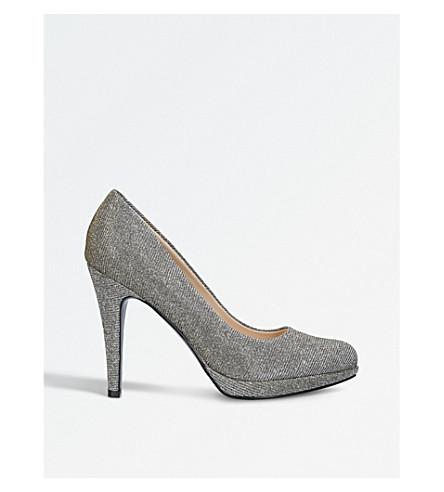 NINE WEST Wiseup glitter court shoes (Bronze+com