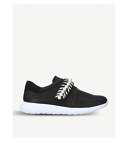 MISS KG Lexie pearl-embellished trainers (Black
