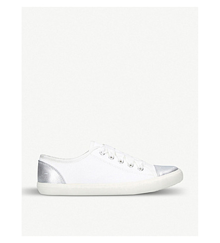 MISS KG Lucca silver trainers (White