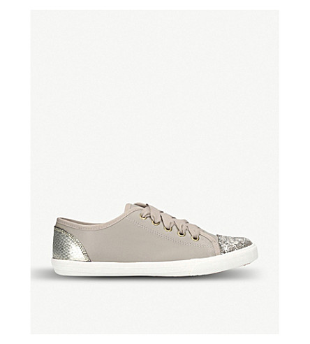 MISS KG Lucca glitter trainers (Nude