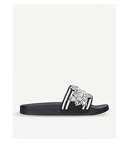 CARVELA Kath crystal sliders (Blk/white