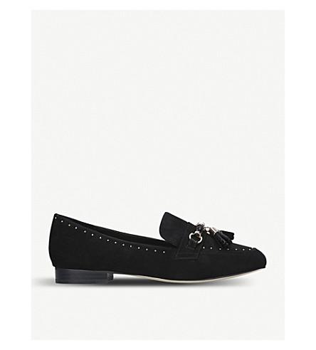 CARVELA Lemon studded suedette loafers (Black