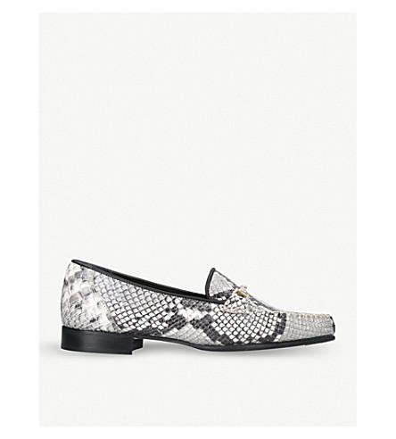 CARVELA Mariner snake-embossed leather loafers (Beige+comb
