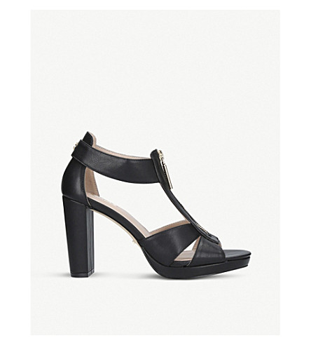 CARVELA Gelato cut-out heeled sandals (Black