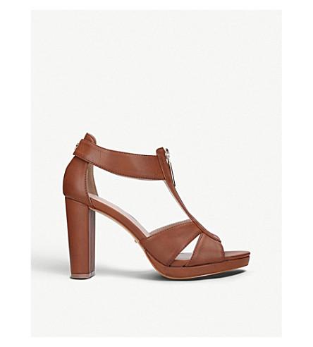 CARVELA Gelato cut-out heeled sandals (Tan