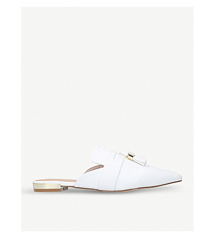 MISS KG Moira leather flat mules (White