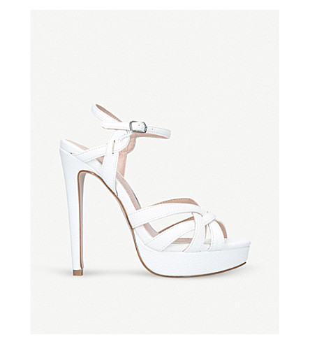 MISS KG Samia platform sandals (White