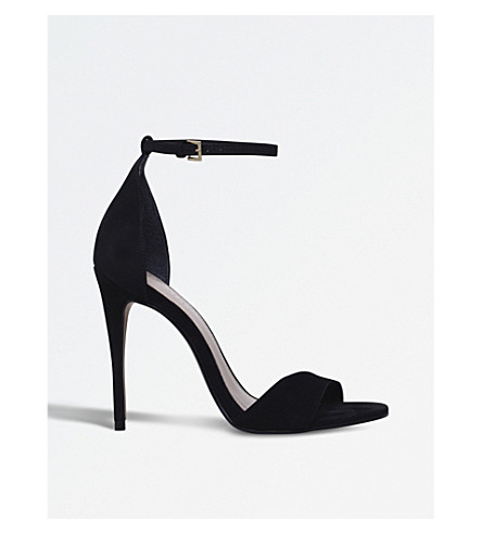CARVELA Glimmer suede sandals (Black