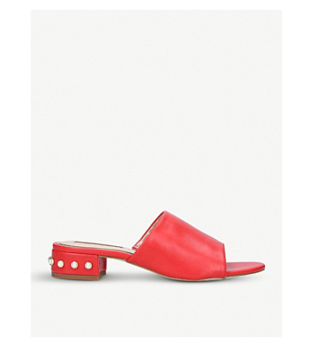 MISS KG Rea embellished mules (Red
