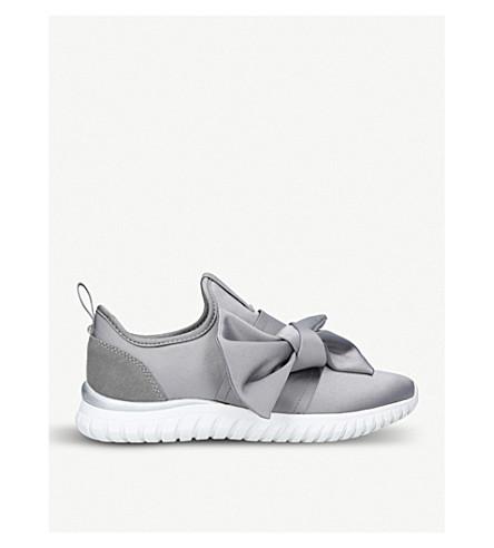 MISS KG Lyla Bow satin trainers (Grey