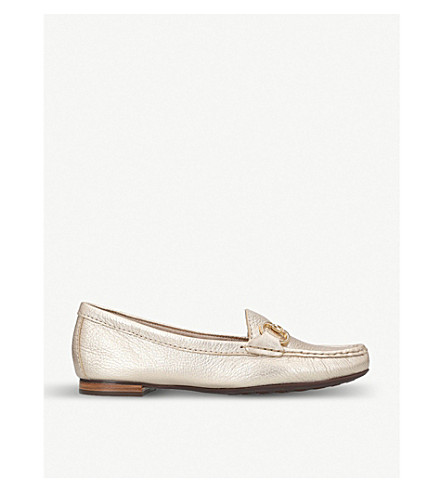 CARVELA COMFORT Cindy metallic leather loafers (Gold