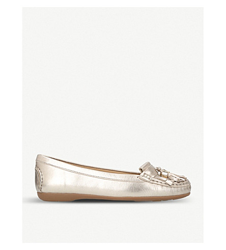 CARVELA COMFORT Chloe metallic leather loafers (Gold