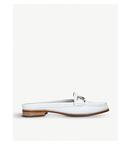 CARVELA COMFORT Clayton leather loafers (White