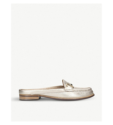 CARVELA COMFORT Clayton leather loafers (Gold
