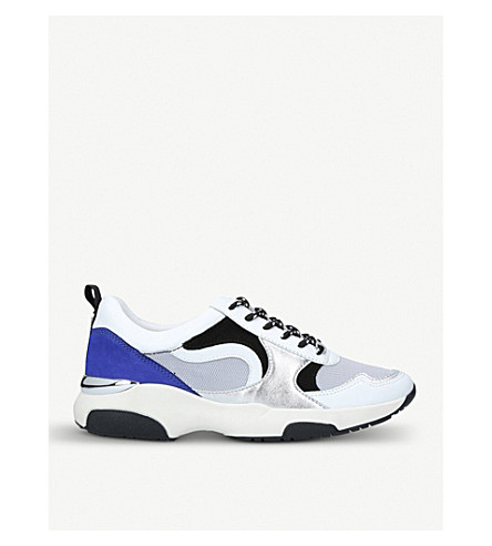 CARVELA Linton mesh and suede trainers (Grey/m.cmb