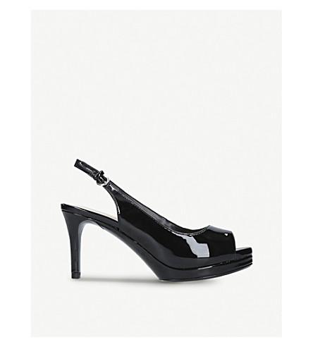 NINE WEST Patent-leather peep-toe heels (Black