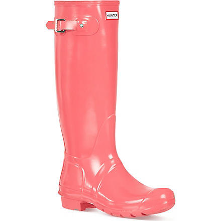 HUNTER Original gloss wellies (Pink