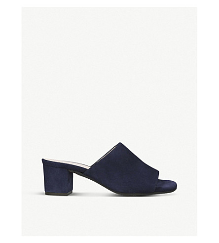 CARVELA COMFORT Abby backless suede mules (Navy