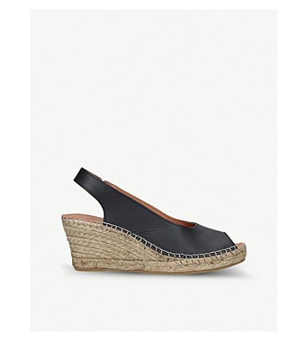 CARVELA COMFORT Sharon leather slingback wedge sandals (Black