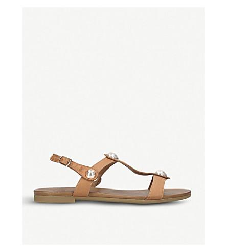 CARVELA COMFORT Saz embellished leather sandals (Tan
