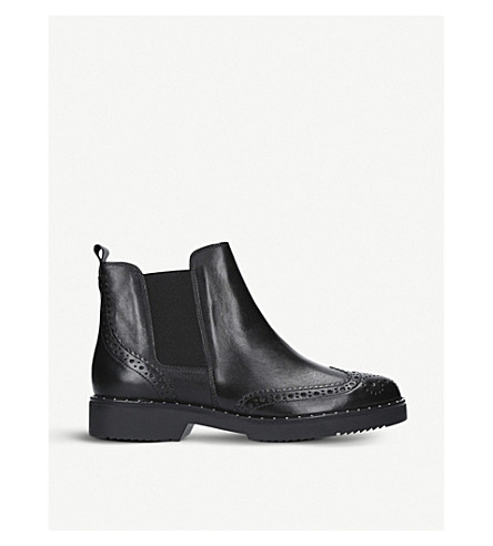 CARVELA Still leather Chelsea boots (Black