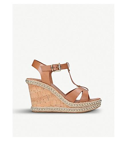 CARVELA Karoline leather wedge sandals (Tan