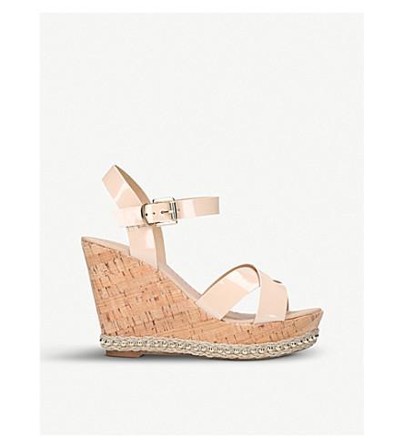 CARVELA Kabba patent wedge heels (Nude