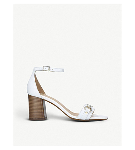 CARVELA Kast leather stacked heel sandals (White