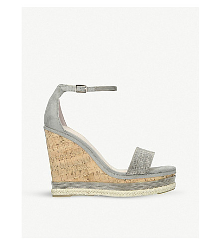 CARVELA Kould two-part suede wedge sandals (Grey