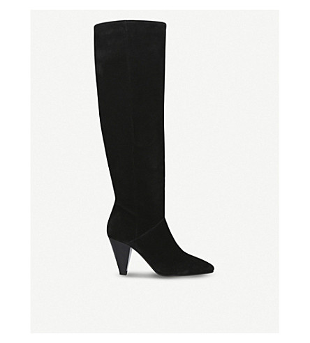 CARVELA Whirl suede knee-high boots (Black